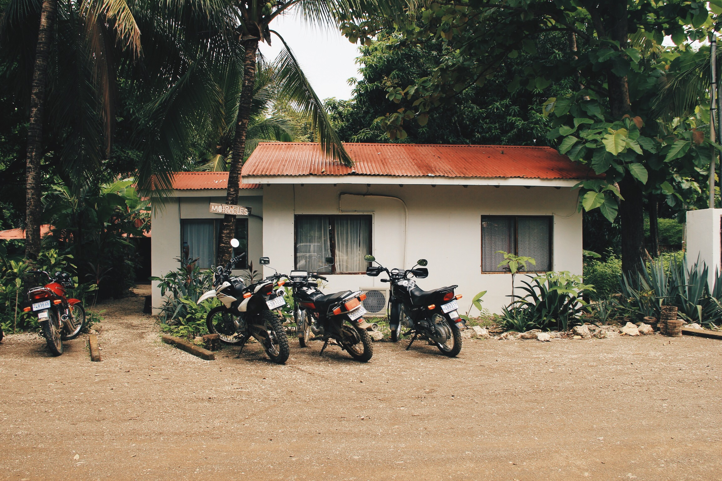 motorcycle parking (and the backside of Bazzar)
