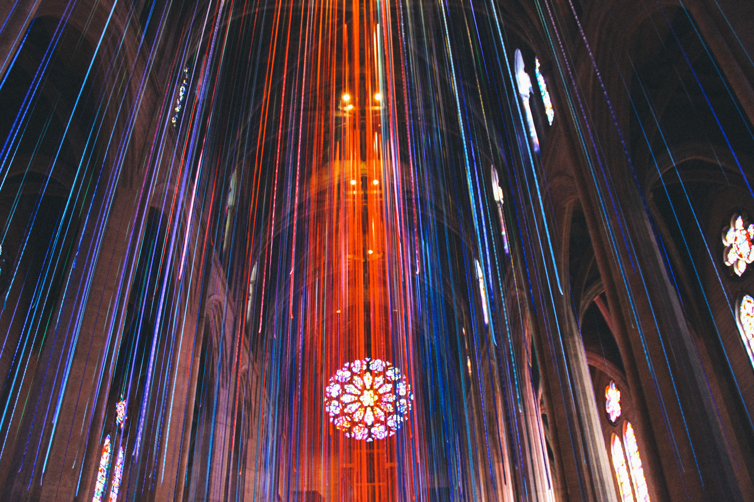 Graced with Light art installation at Grace Cathedral in San Francisco, CA