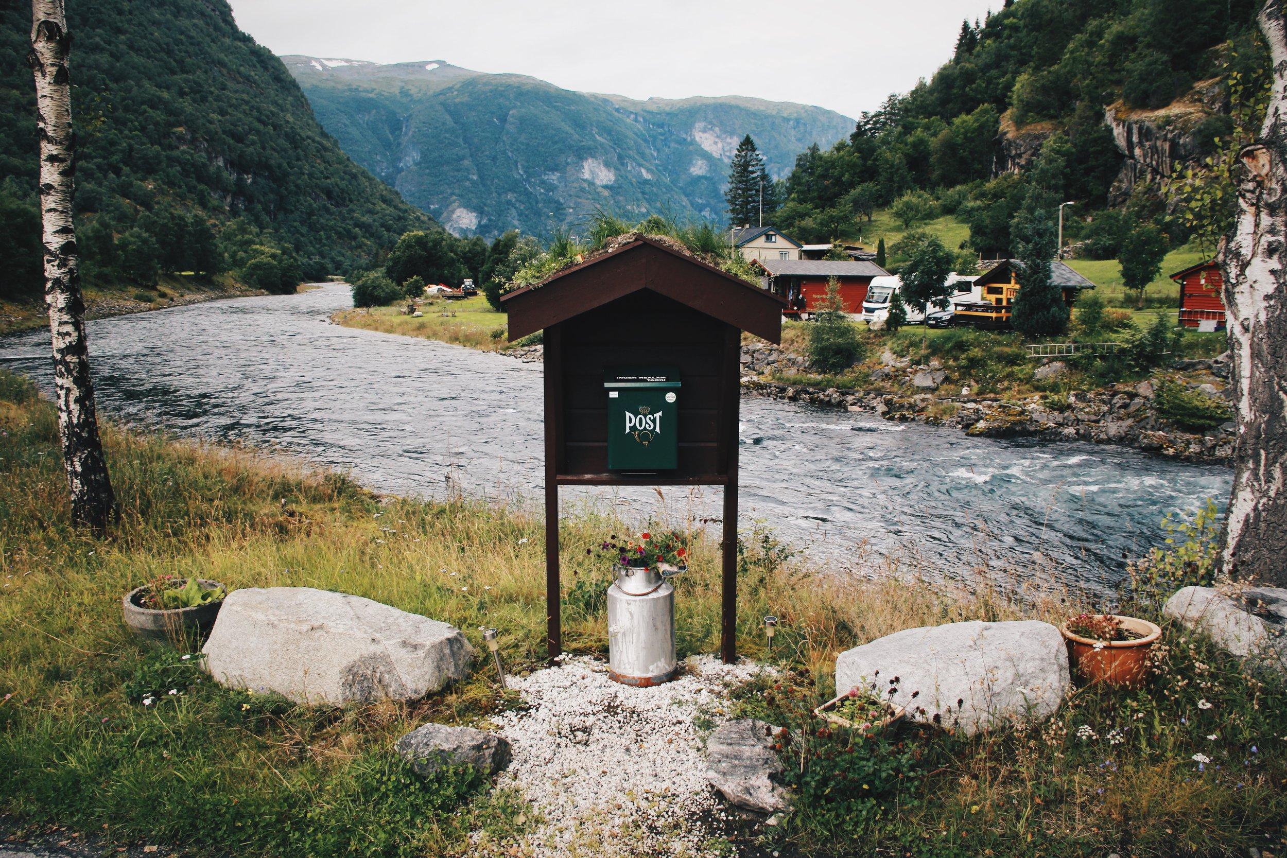 Mailbox in Aurland, Norway