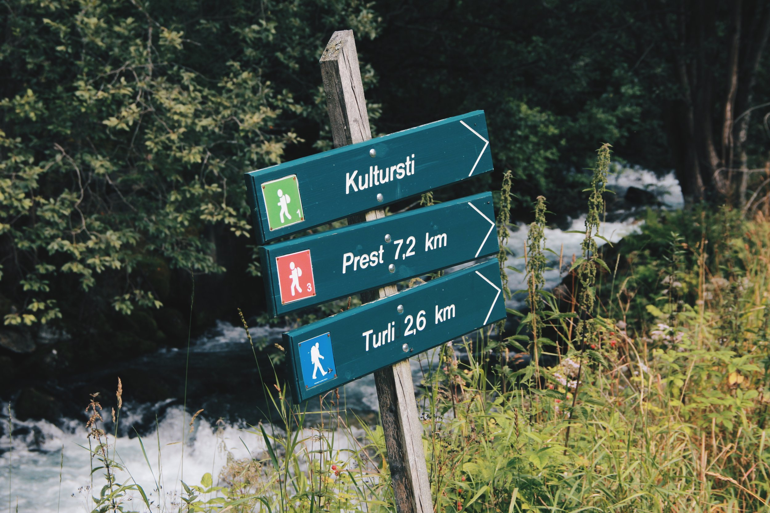 """Hiking signs near 29