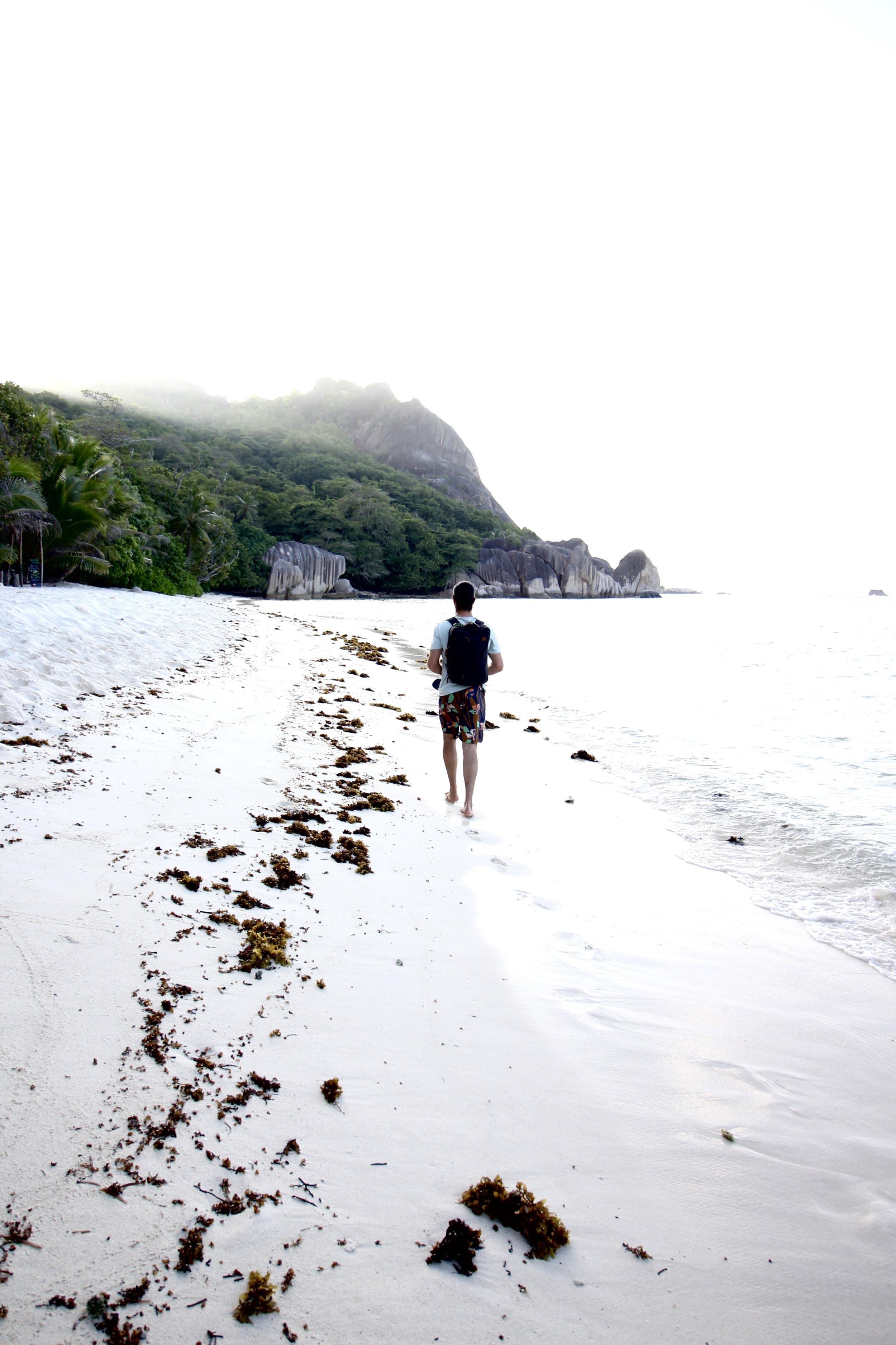 Anse Bonnet Carre on La Digue Island, Seychelles