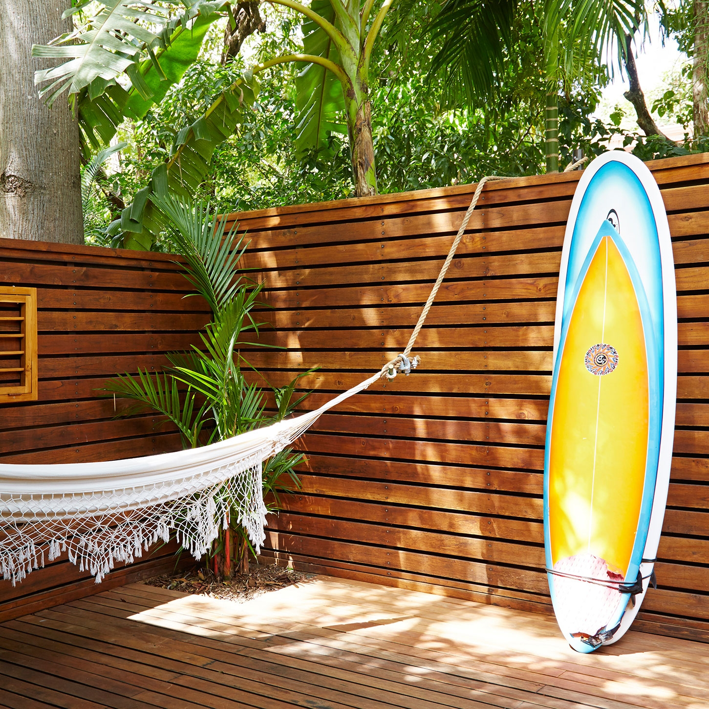Hammocks on your private patio   Photo Courtesy of Harmony Hotel