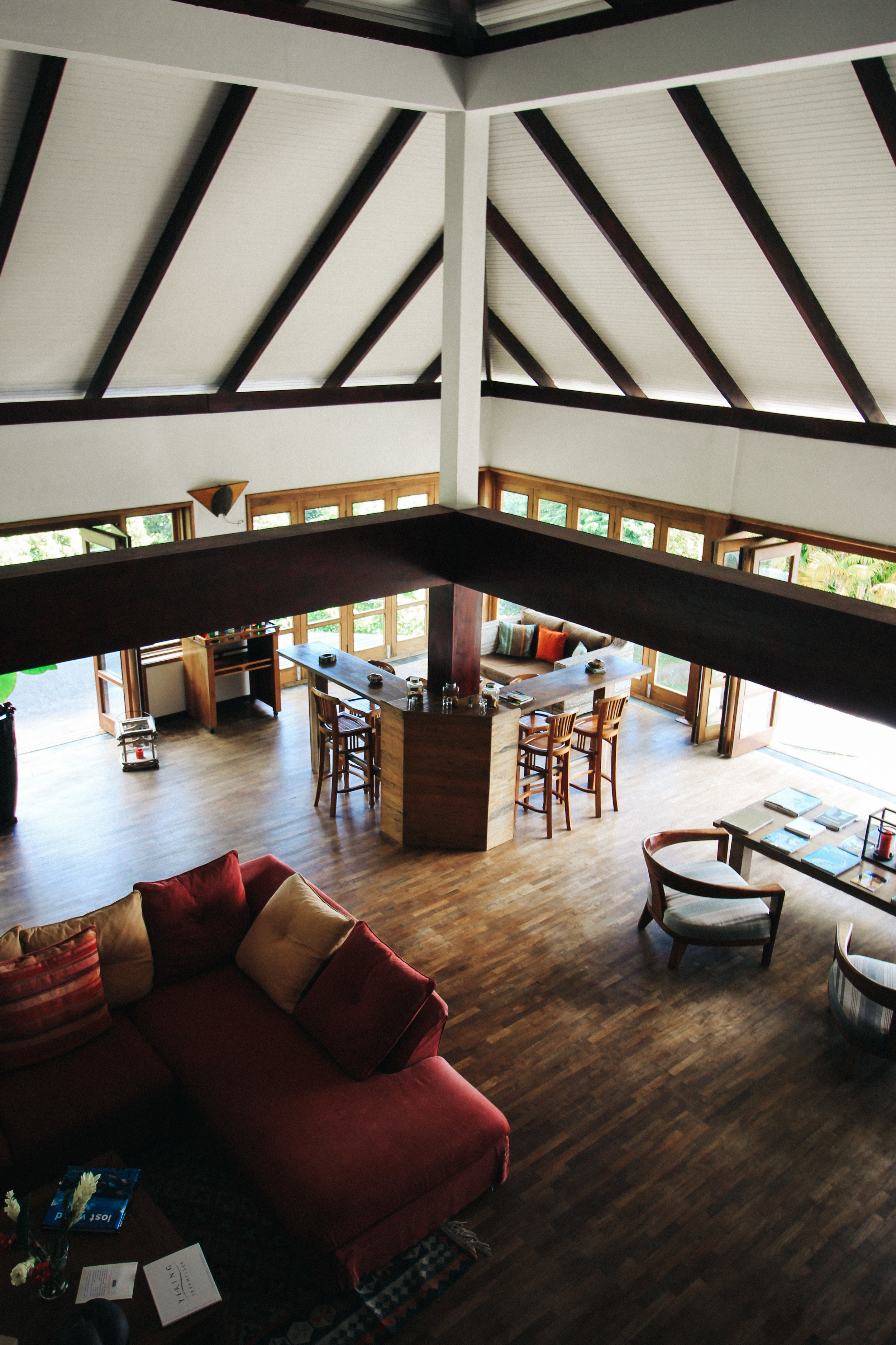 The common area at Copolia Lodge