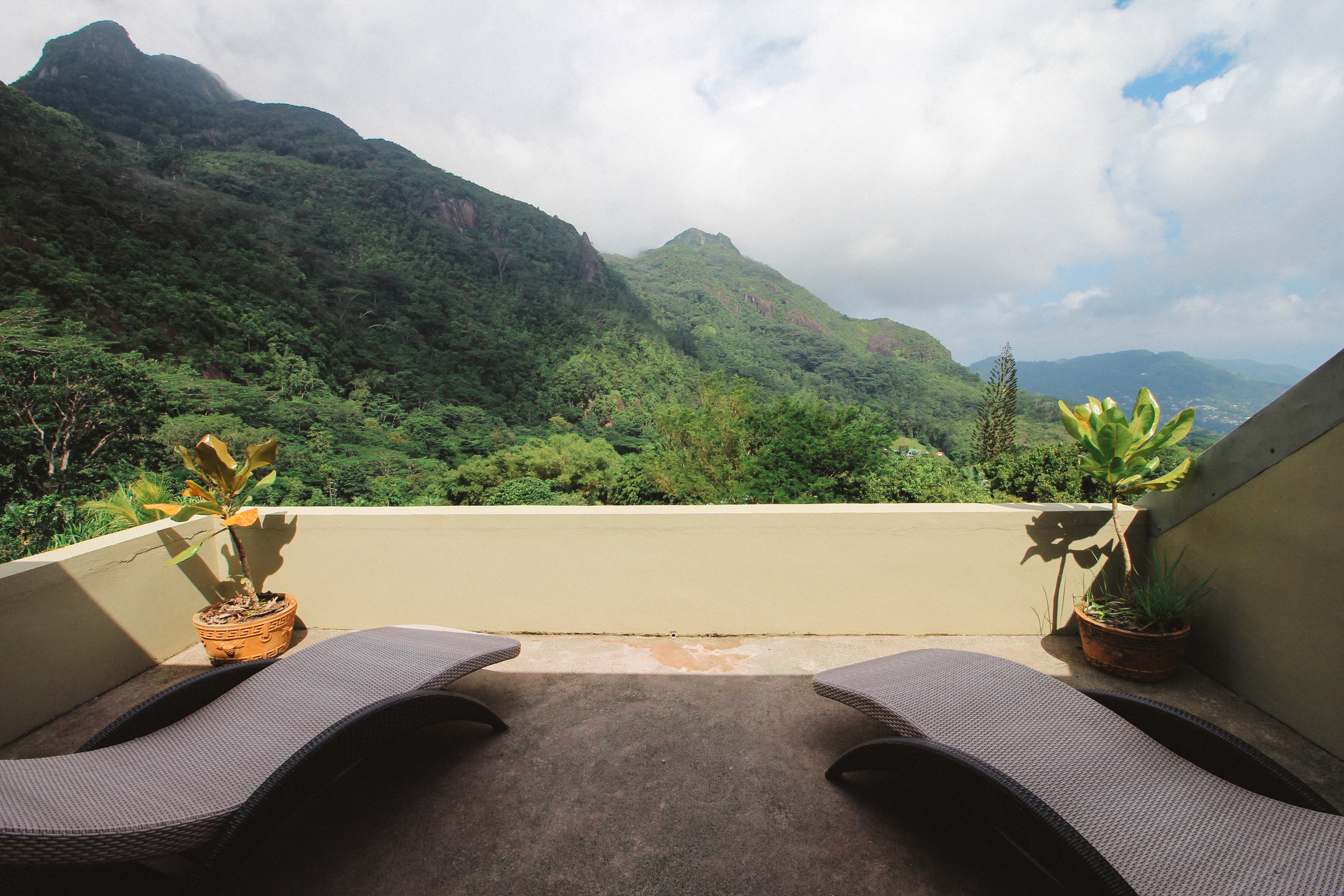 The view from the Fregate Suite at Copolia Lodge, Mahe, Seychelles