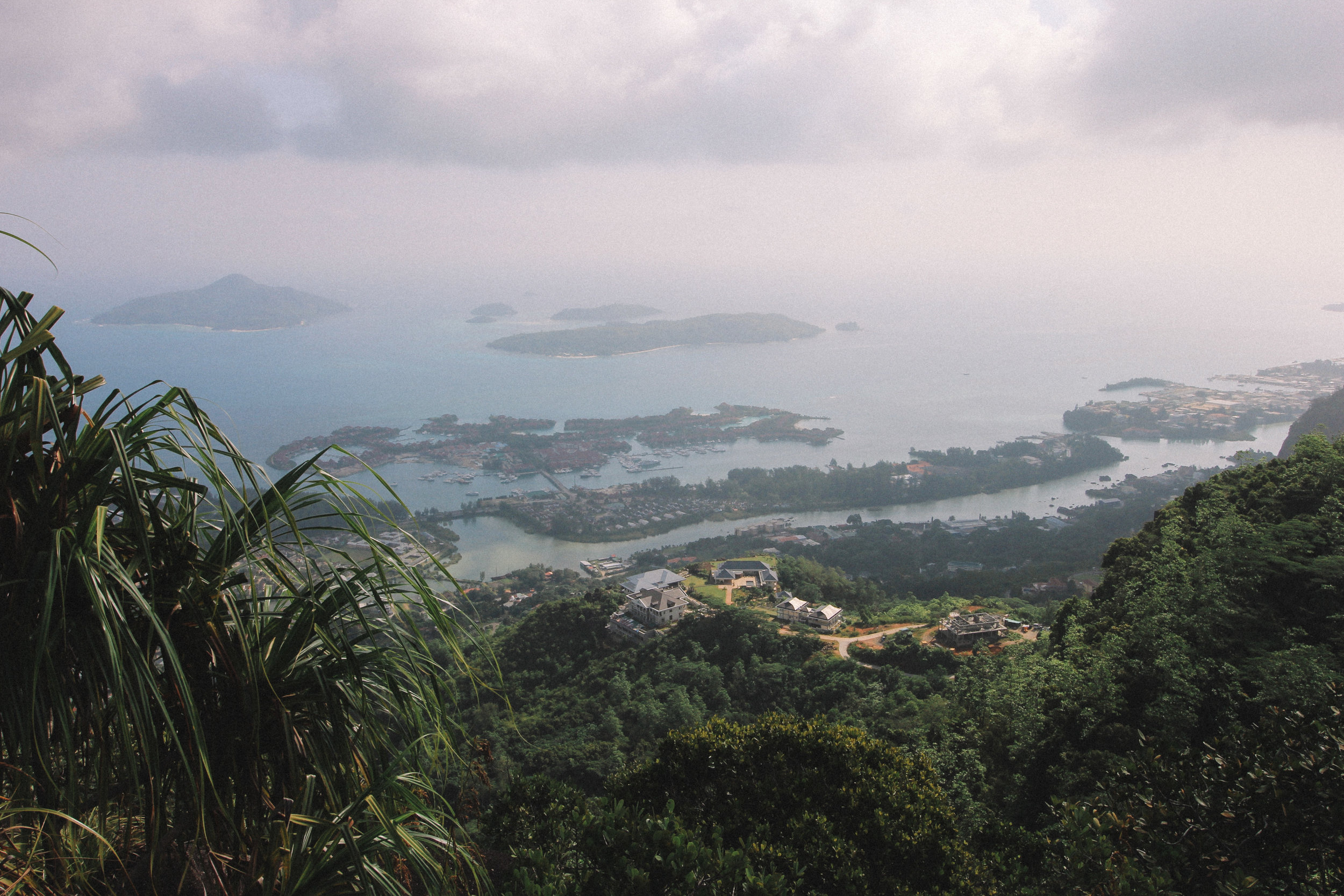 The view from the top of Copalia Trail, Mahe, Seychelles