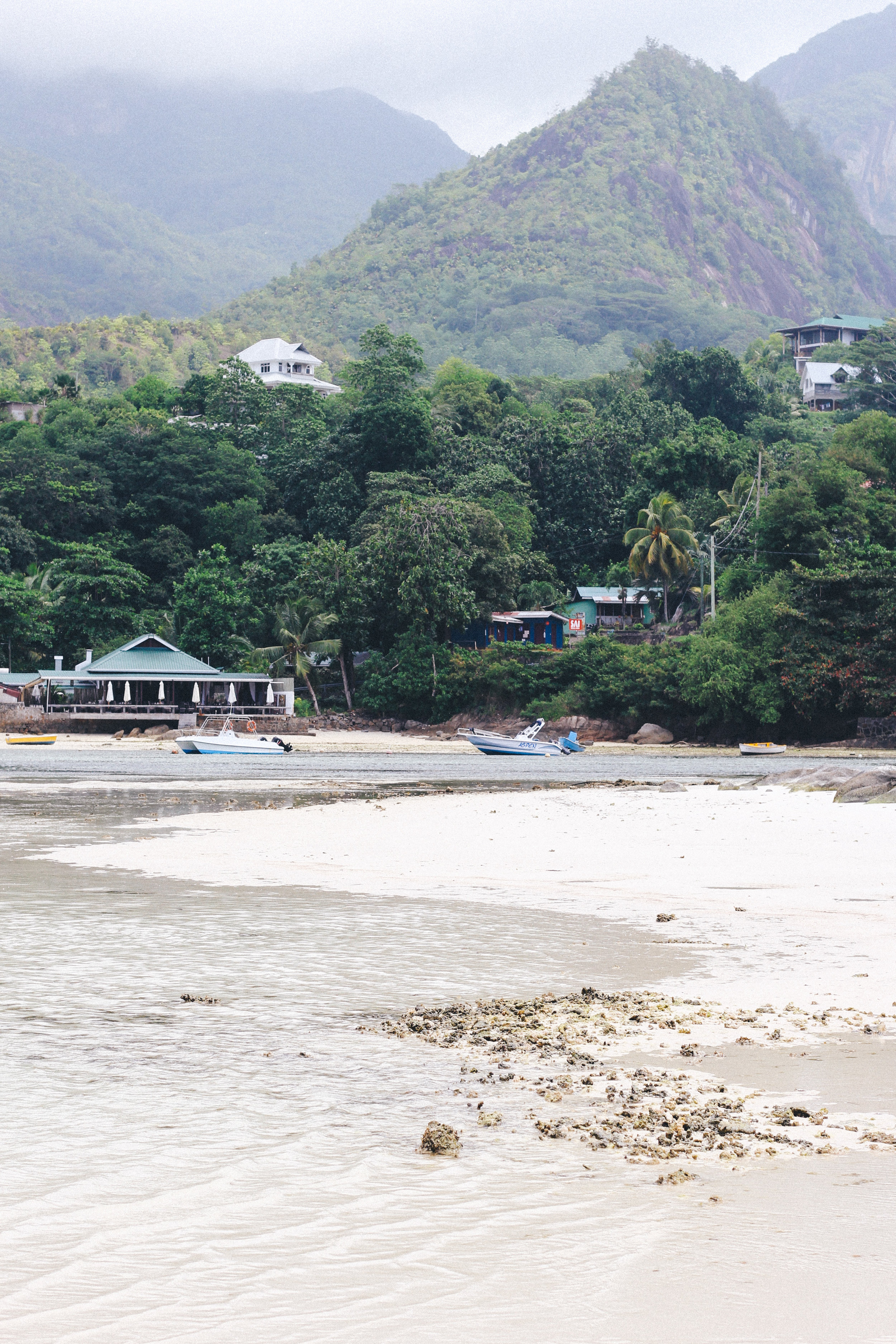 Looking back on Mahe from L'islette