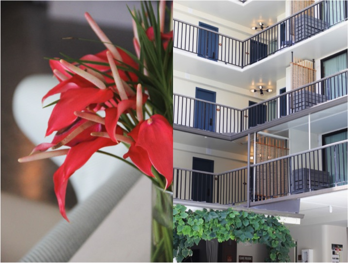Flowers and Balconies at the Surfjack Hotel & Swim Club in Waikiki