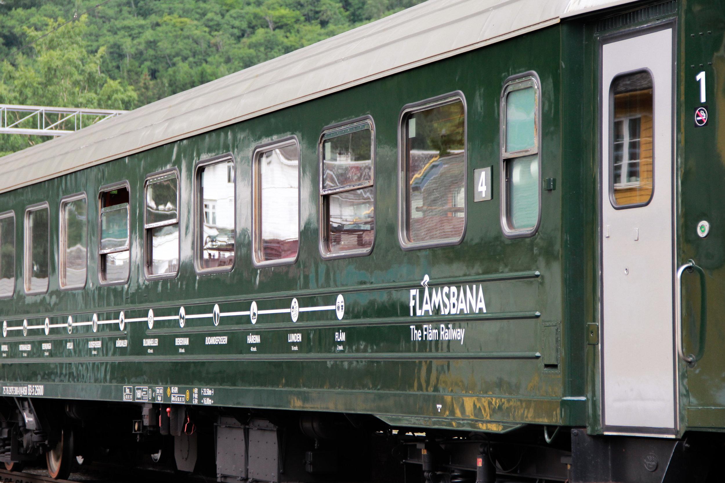 Flamsbrygga Railway line from Myrdal to Flam