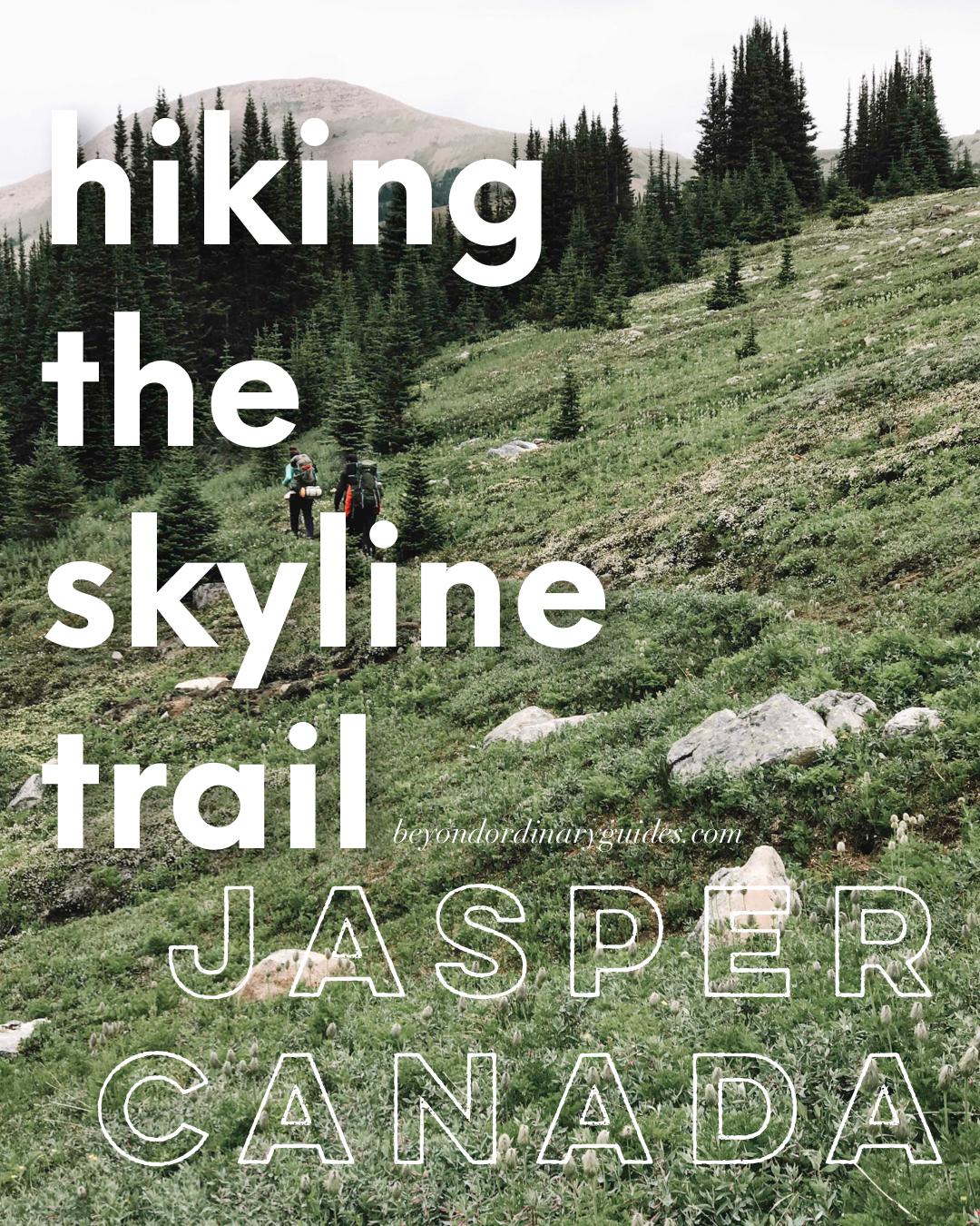 Hiking the Skyline Trail