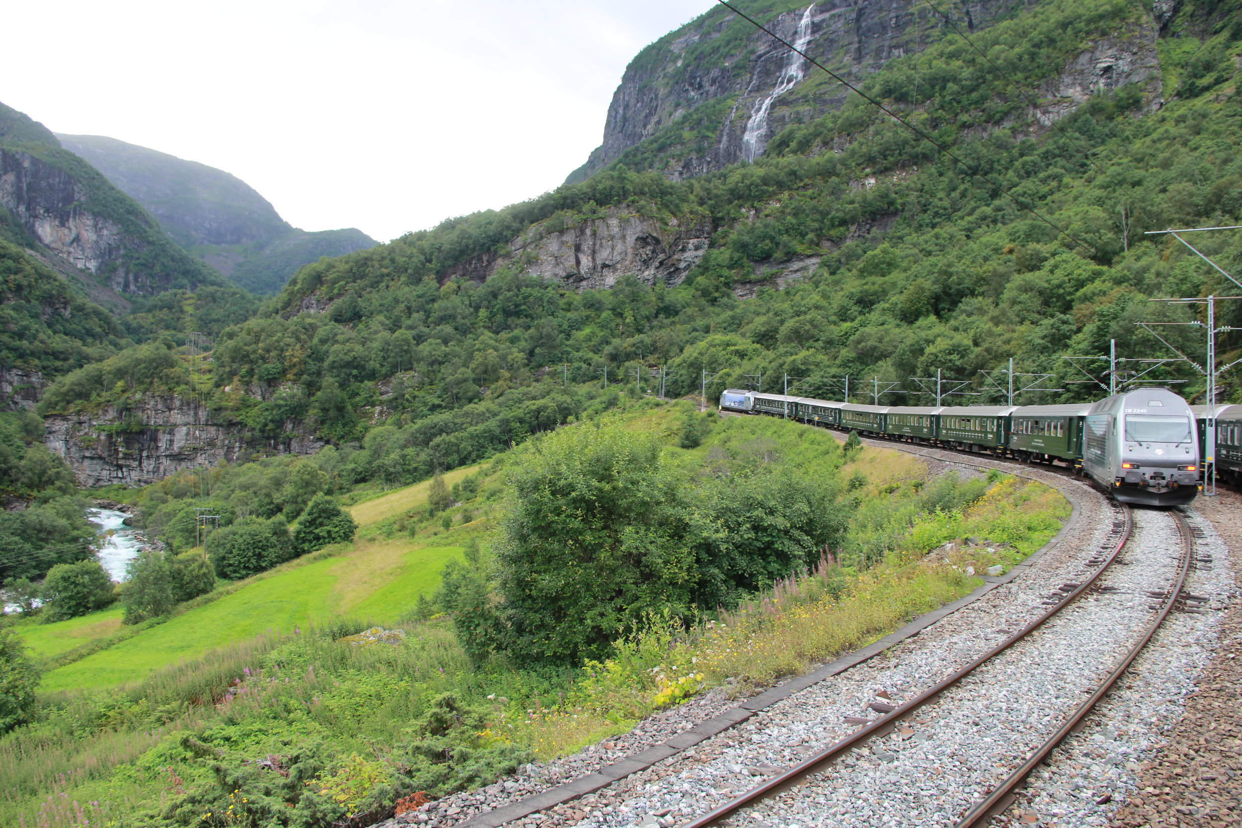 Train from Myrdal to Flam on Norway in a Nutshell