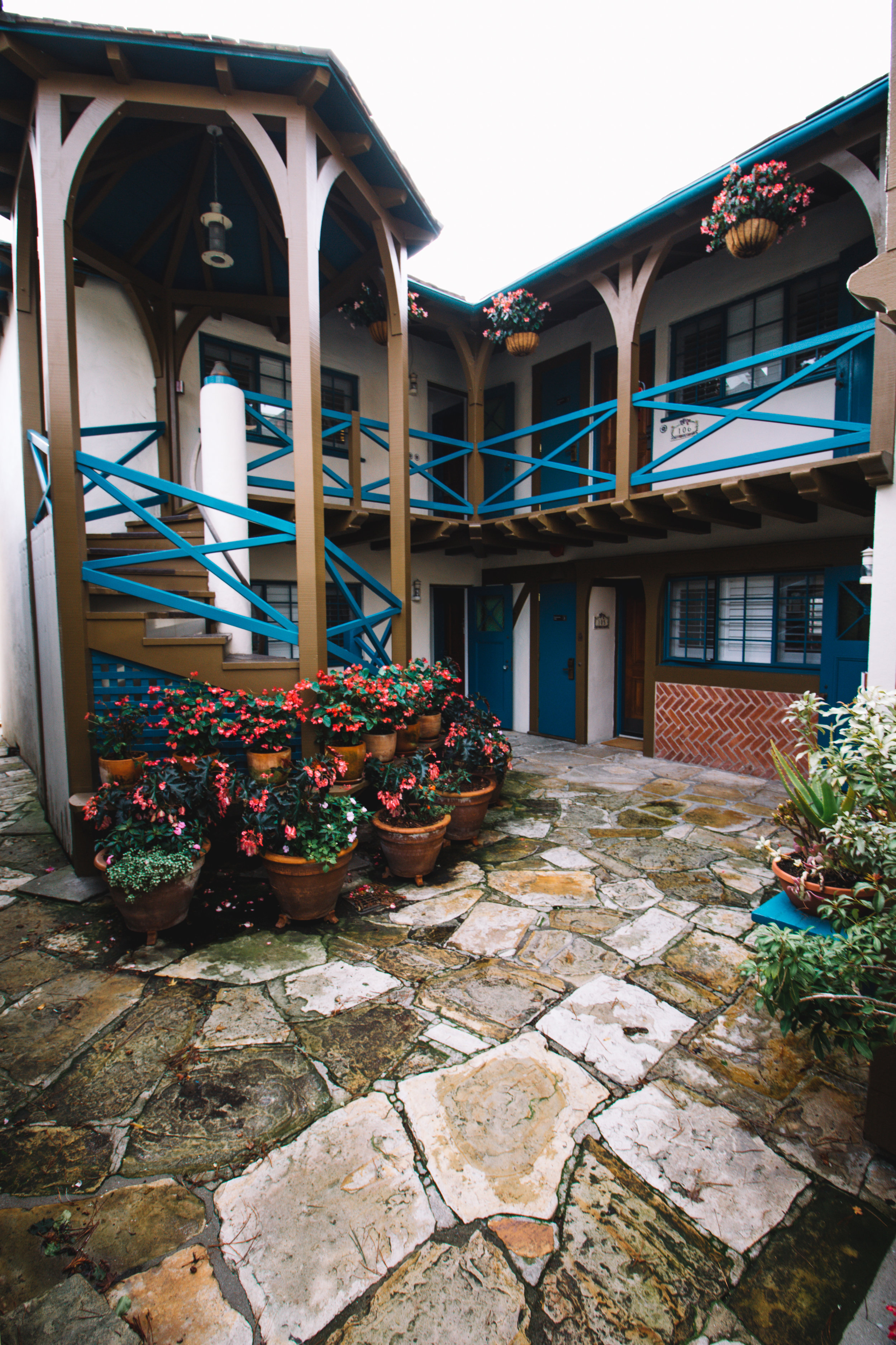 Hotel Normandy Courtyard in Carmel