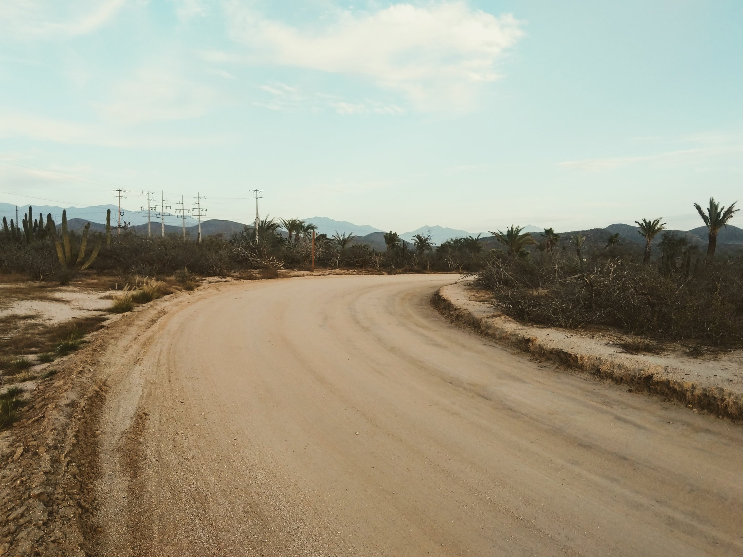 Dirt roads in Todos Santos
