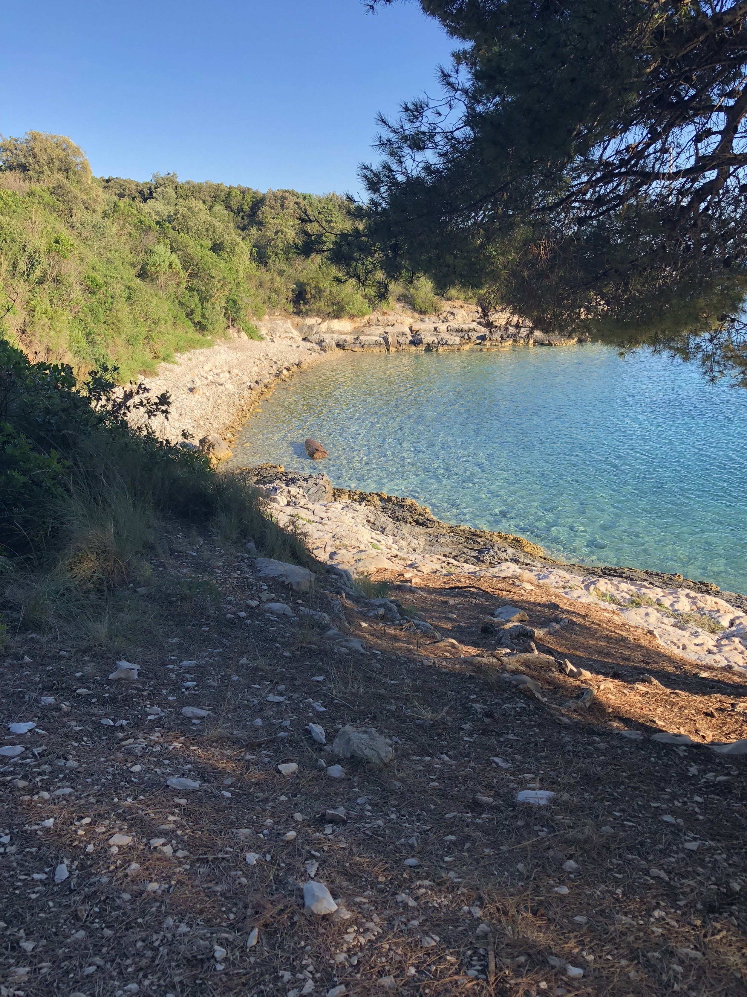 Private beaches, only accessible by boat or on foot