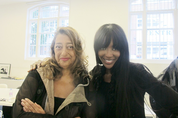 Architizer Blog » Girl Talk: Naomi Campbell And Zaha Hadid Discuss Art, Fashion, And Flying First Class