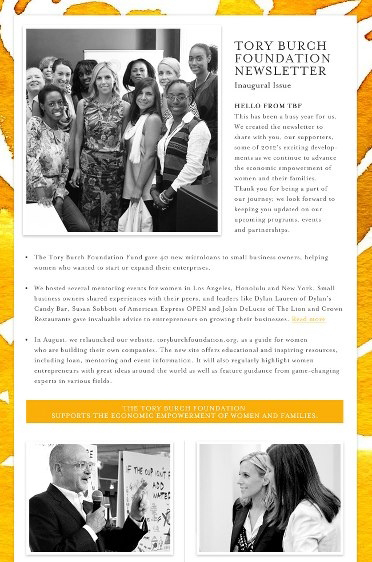 Tory Burch Foundation Newsletter