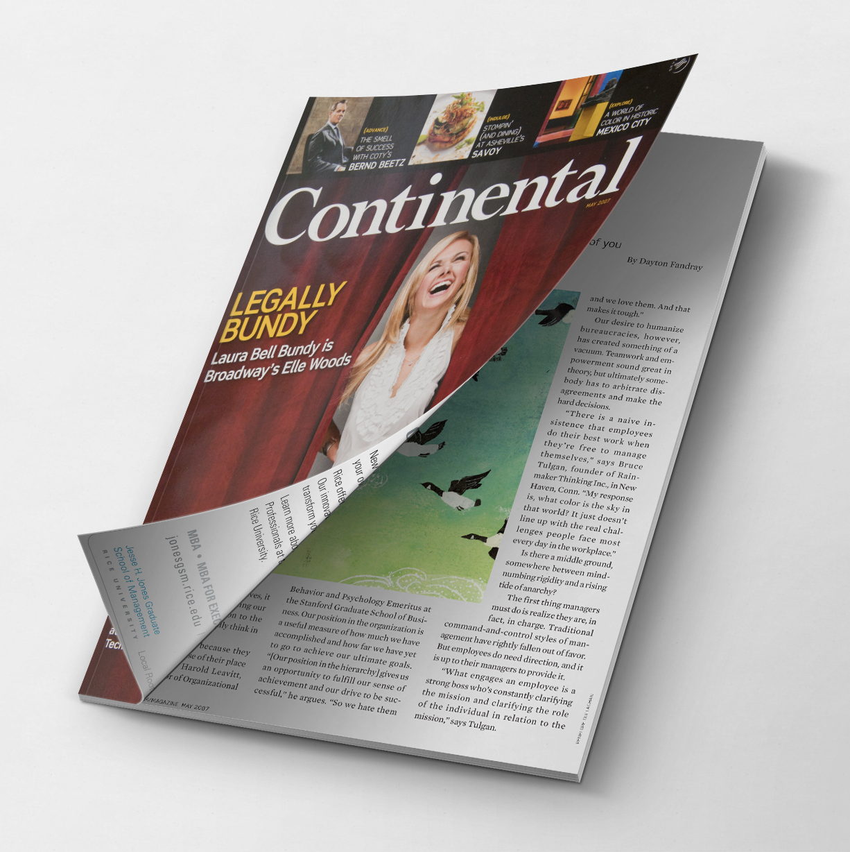 Continental Airlines Magazine