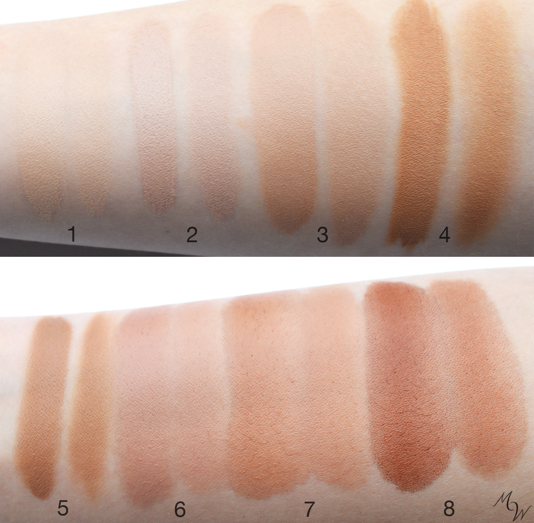 Swatched full and sheer.