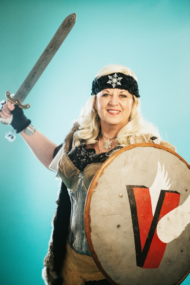 "Whitefish Winter Carnival : Viking Diva by Mandy Mohler (model : Rochelle ""Bee"" Bickel)"