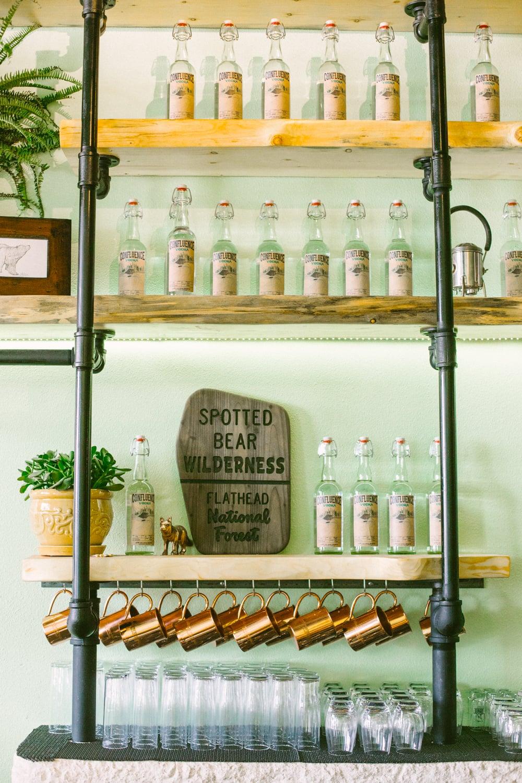 Spotted Bear Spirit's flagship bottles of Confluence Vodka