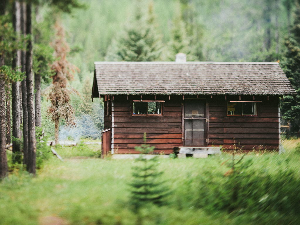 Spruce Park Cabin, Great Bear Wilderness. Artist Wilderness Connection 2012