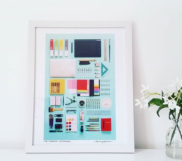 The Graphic Designer Art Print by Mandy Mohler of Field Guide Designs