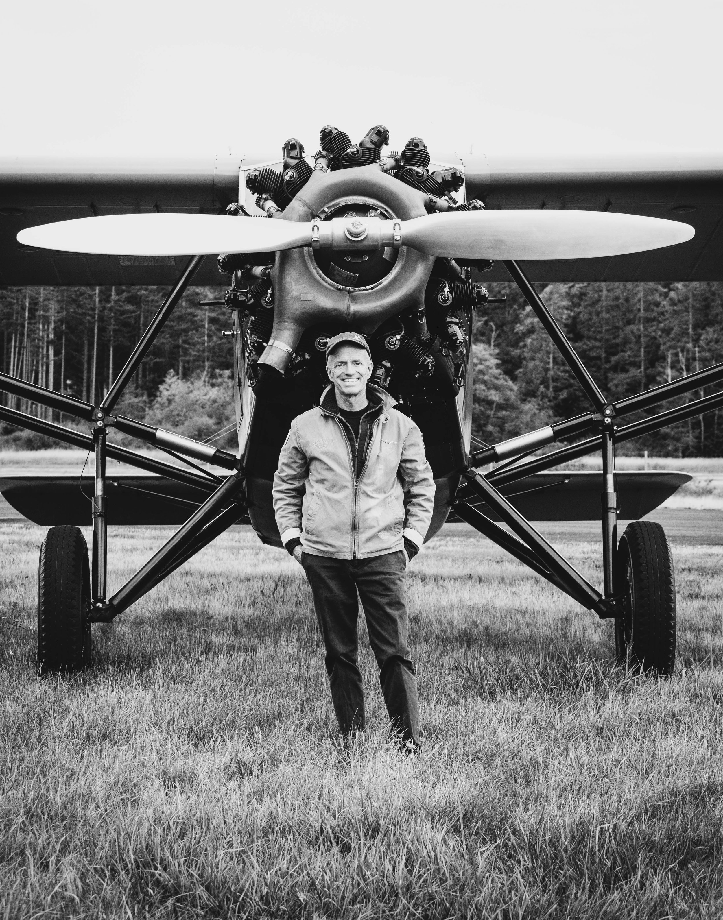 The Aviator - A portrait of a pilot with a love for vintage aircraft.