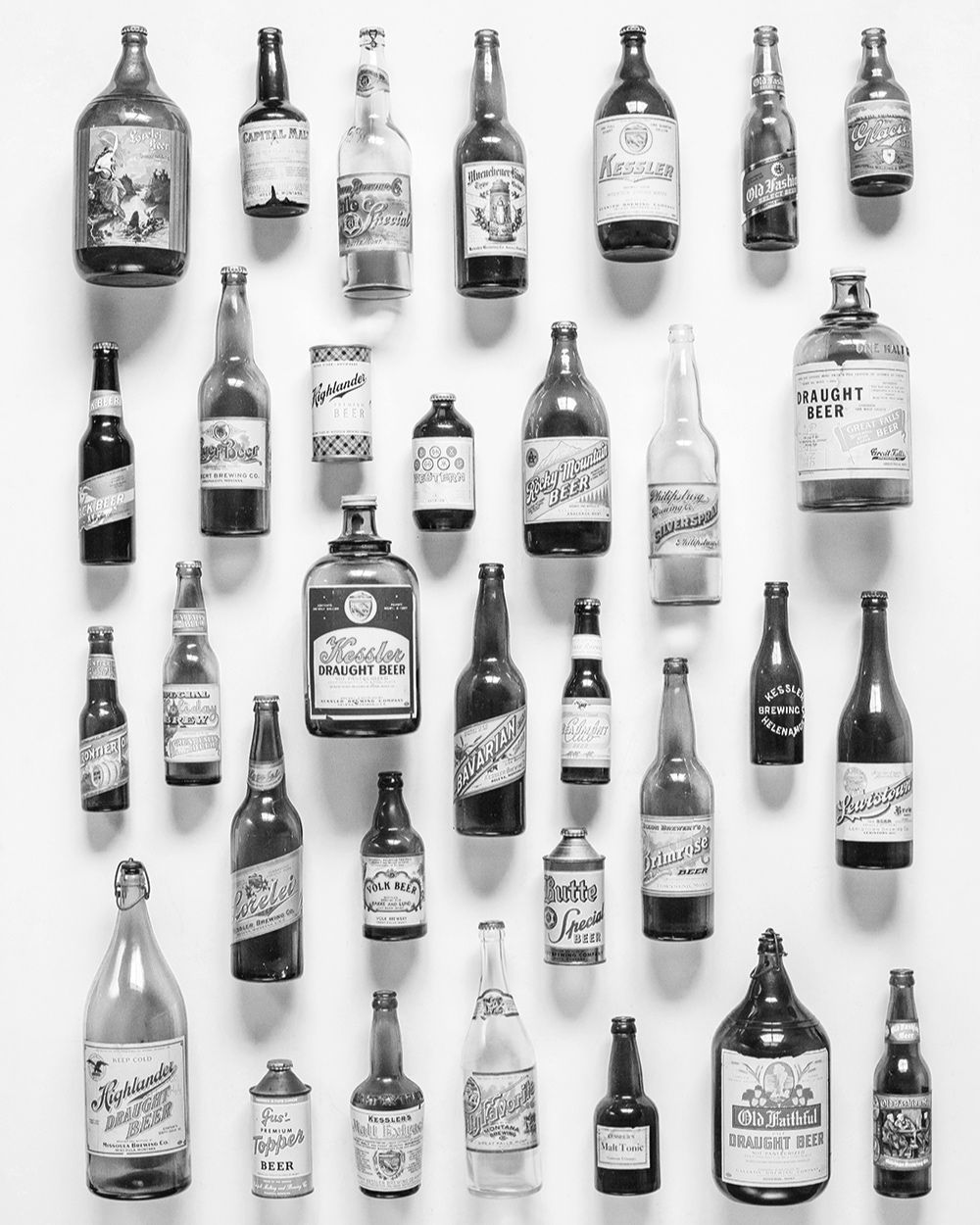 The Beer Collector - Steve Lozar of Polson, Montana has a personal collection of Montana Beer artifacts that is presented as a MONTANA BEER MUSEUM.This collection helped me create the Montana Beer History print.Read on to see this IMPRESSIVE collection.