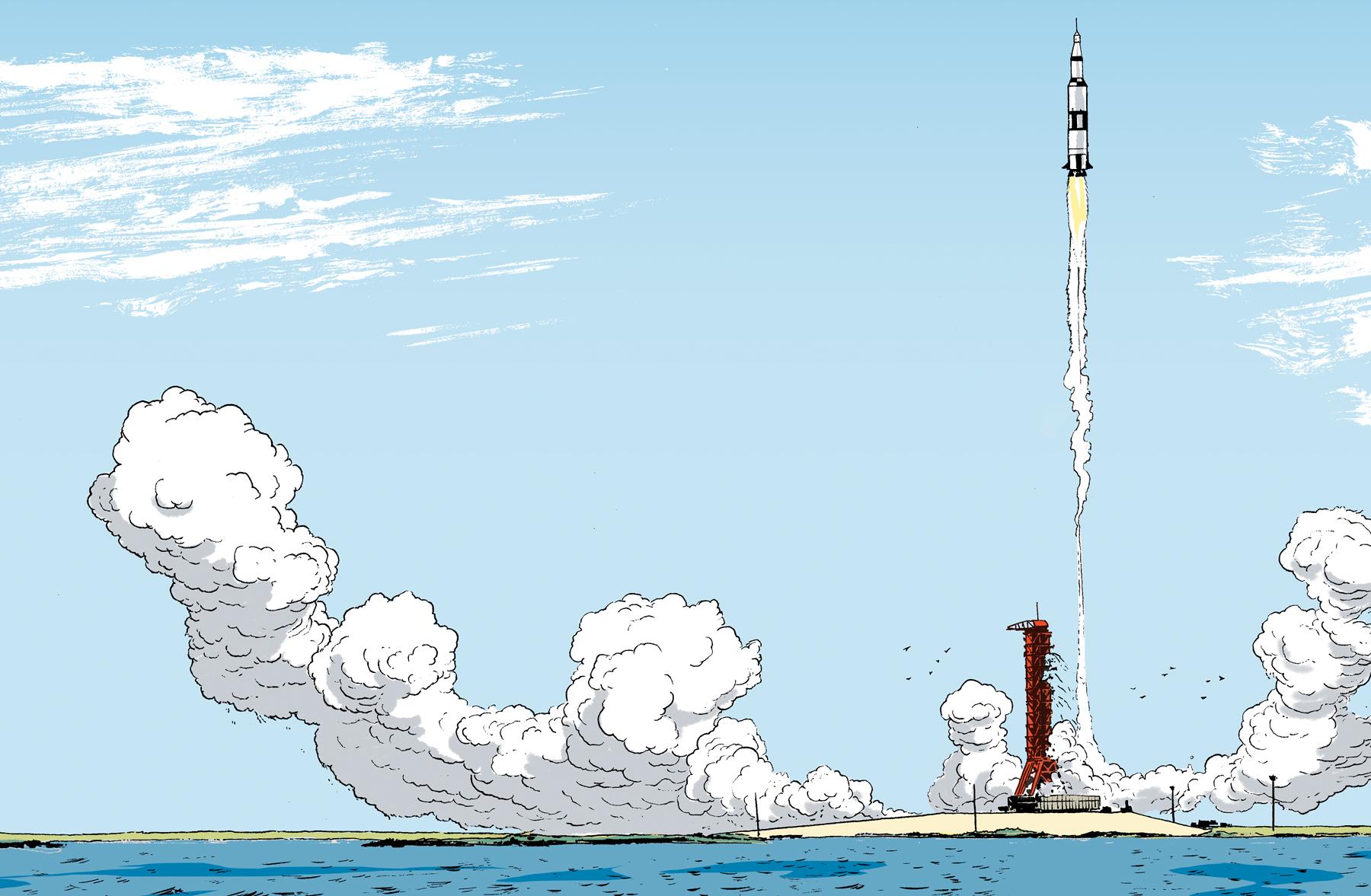 Illustration excerpt from  Moonbound