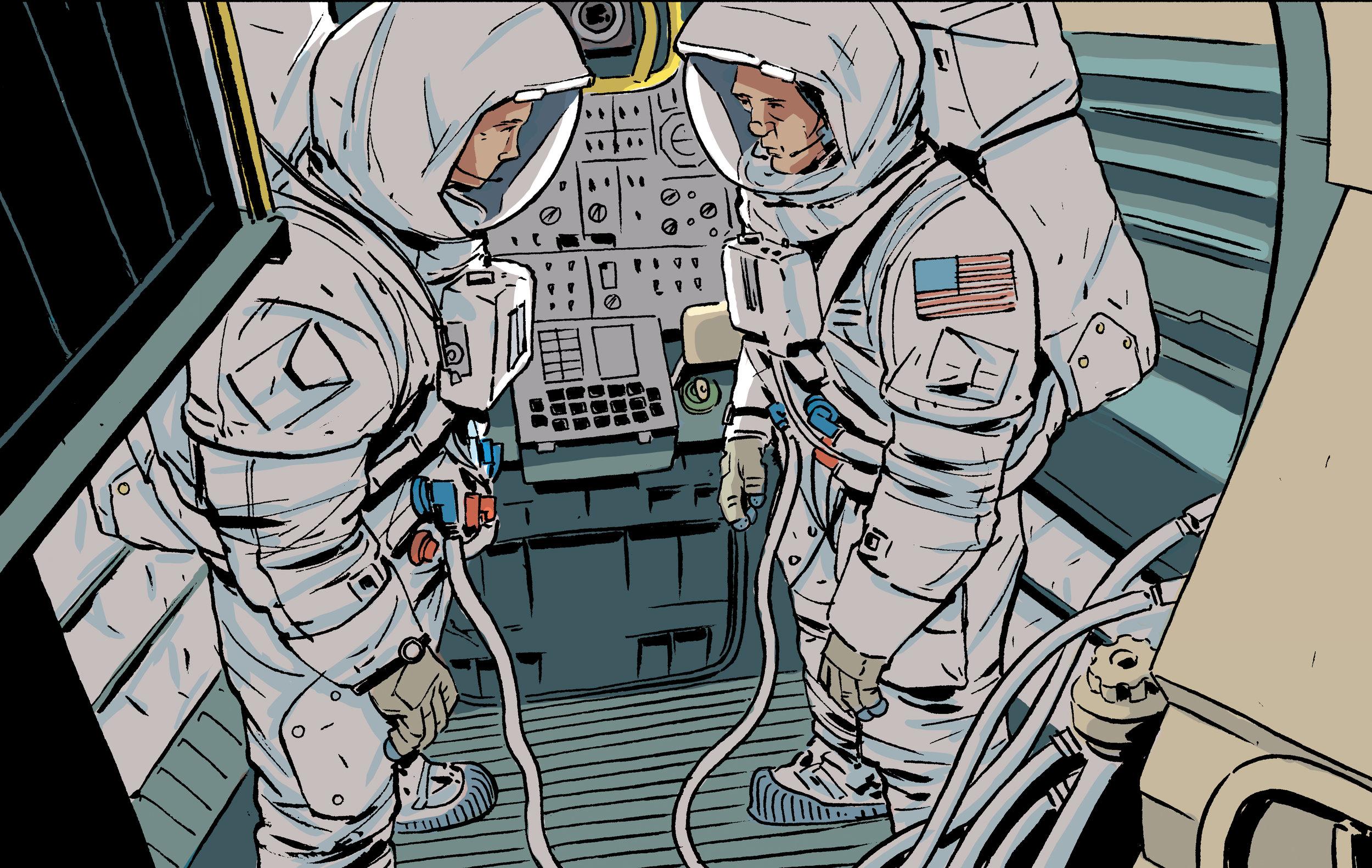 Illustration excerpt from  Moonbound .