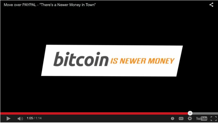 Bitcoin parody https://www.youtube.com/watch?v=O1O3wY_zTSI