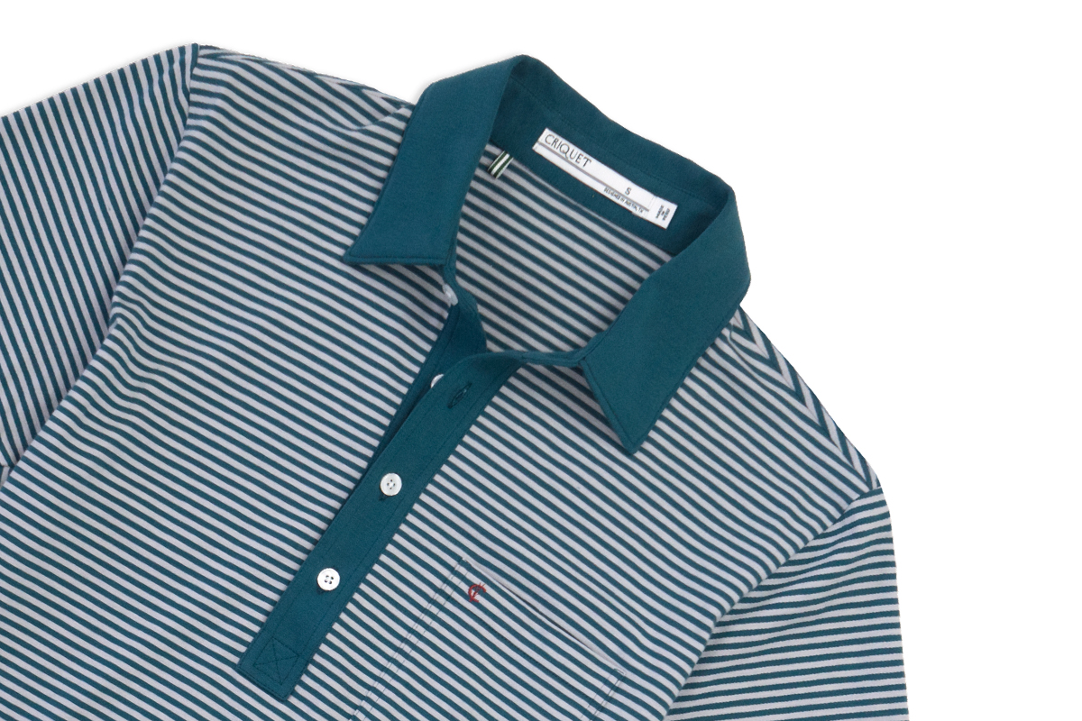 Named after the legendary Texas golfer Byron Nelson, this Nelson Stripe – Green players shirt is a classic design that moves well with your swing motion.jpg