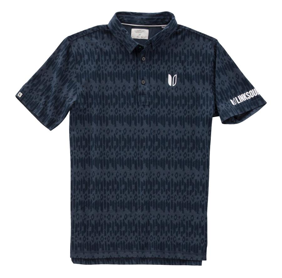 Using a poly-cotton blend, this subtle print shirt from Linksoul offers a fancy Tour Logo as some inspiration for your perspiration during your round.jpg