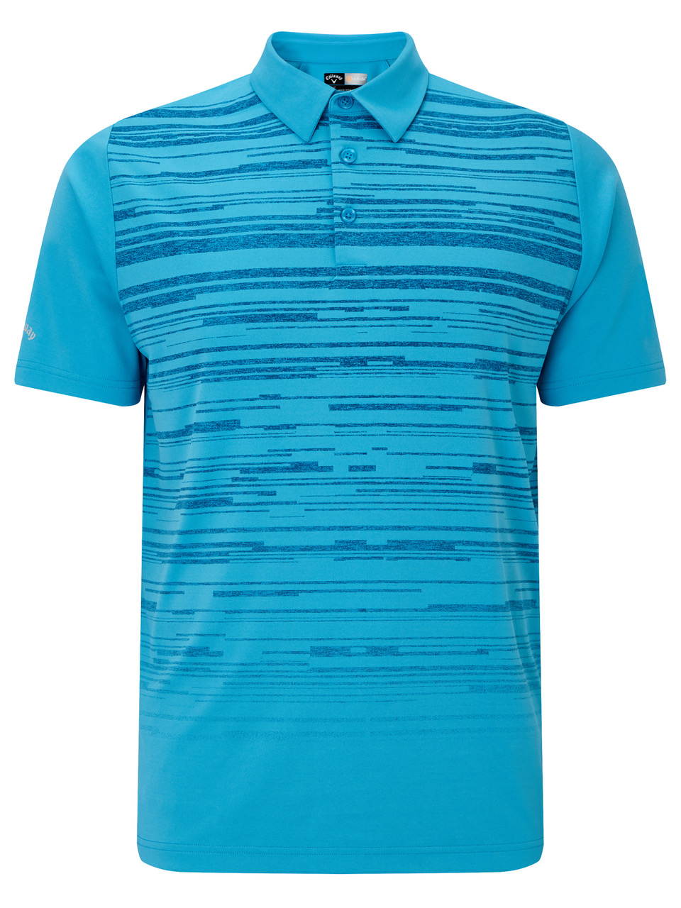 With its soft lightweight air-spun Tactel yarns, whether it's on the golf course or in the office, you'll always look stylish and feel comfortable in this Callaway Raglan Textured Space Dye Print Polo.jpeg