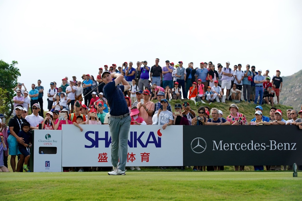 Nick Voke on his way to victory in the Clearwater Bay Championship in China PHOTO PGA TOUR Series China Zhuang Liu