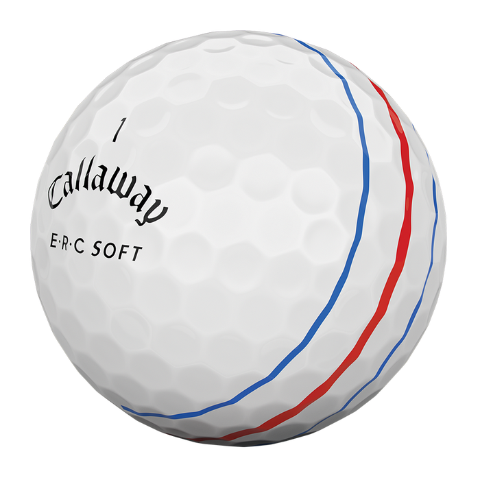 Callaway's new ball with three lines to help with vernier acuity.