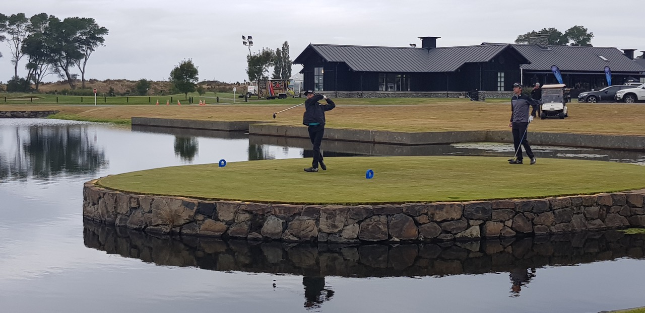 DOMINIC Kazuma Kobori teeing off the 10th hole at the New Zealand PGA Championship during the first round of the tournament