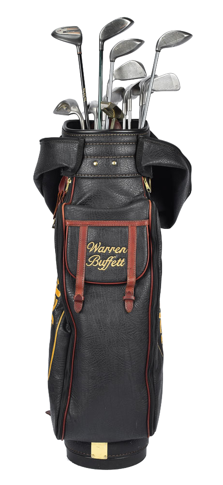 Warren Buffett's golf bag and clubs, which sold for nearly $US40,000 at auction in the United States