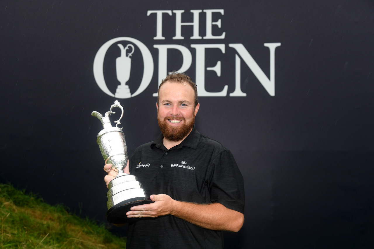 Shane Lowry with one of the most prized trophies in golf, the claret jug. Photo credit R&A.
