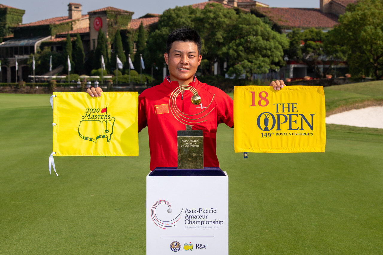 Yuxin Lin of China is bound for the US Masters and The Open Championship next year after again winning the Asia-Pacific Amateur in China.