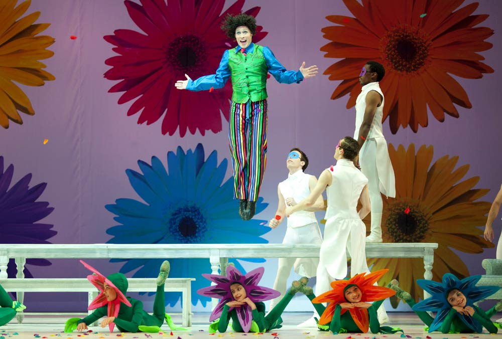 Jared Nelson (The Mad Hatter) in The Washington Ballet's Alice (in Wonderland). Photo Credit:Brianne Bland