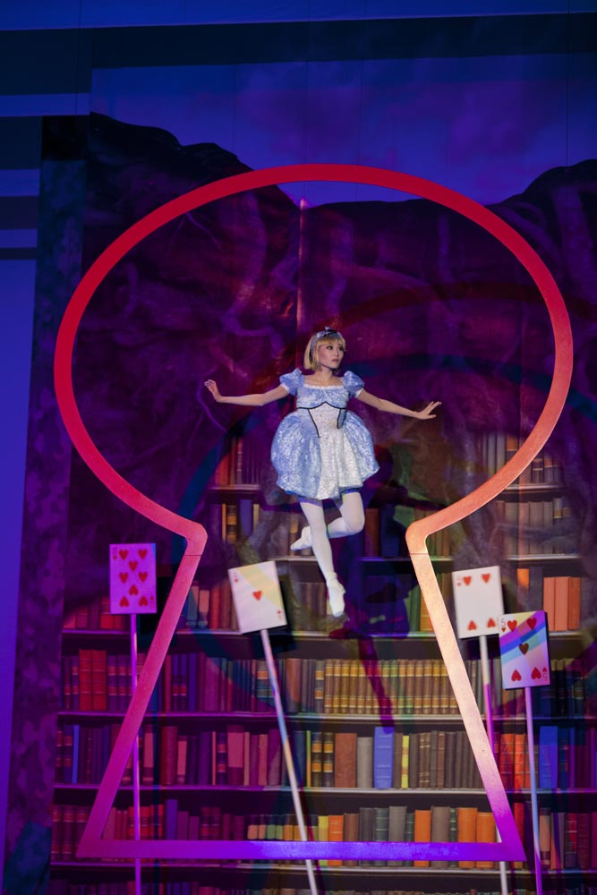 Maki Onuki (Alice) in The Washington Ballet's Alice (in Wonderland). Photo credit:Brianne Bland
