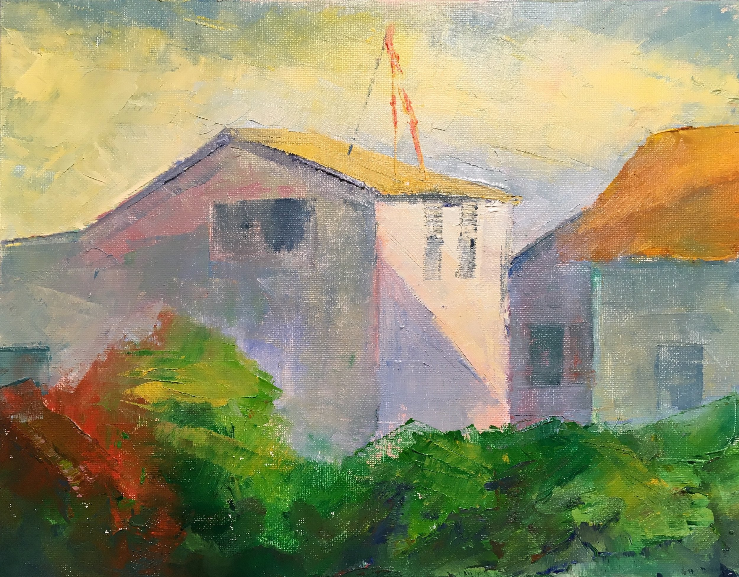 "North Truro Afternoon Light 11""x14"" Oil on Canvas 5 August, 2019"