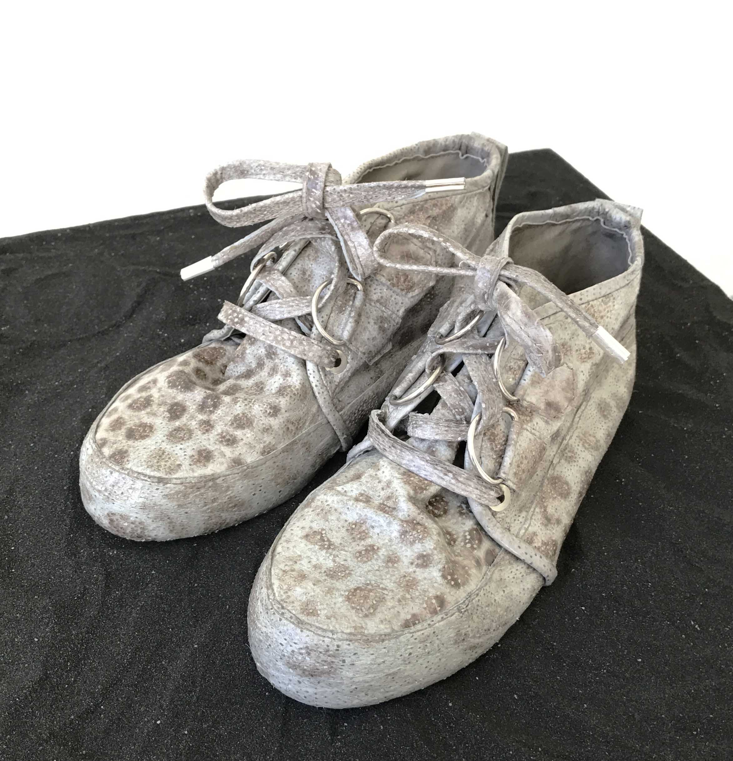 'Coming Home,' the Icelandic Wolfish skin shoes that tied the show together.