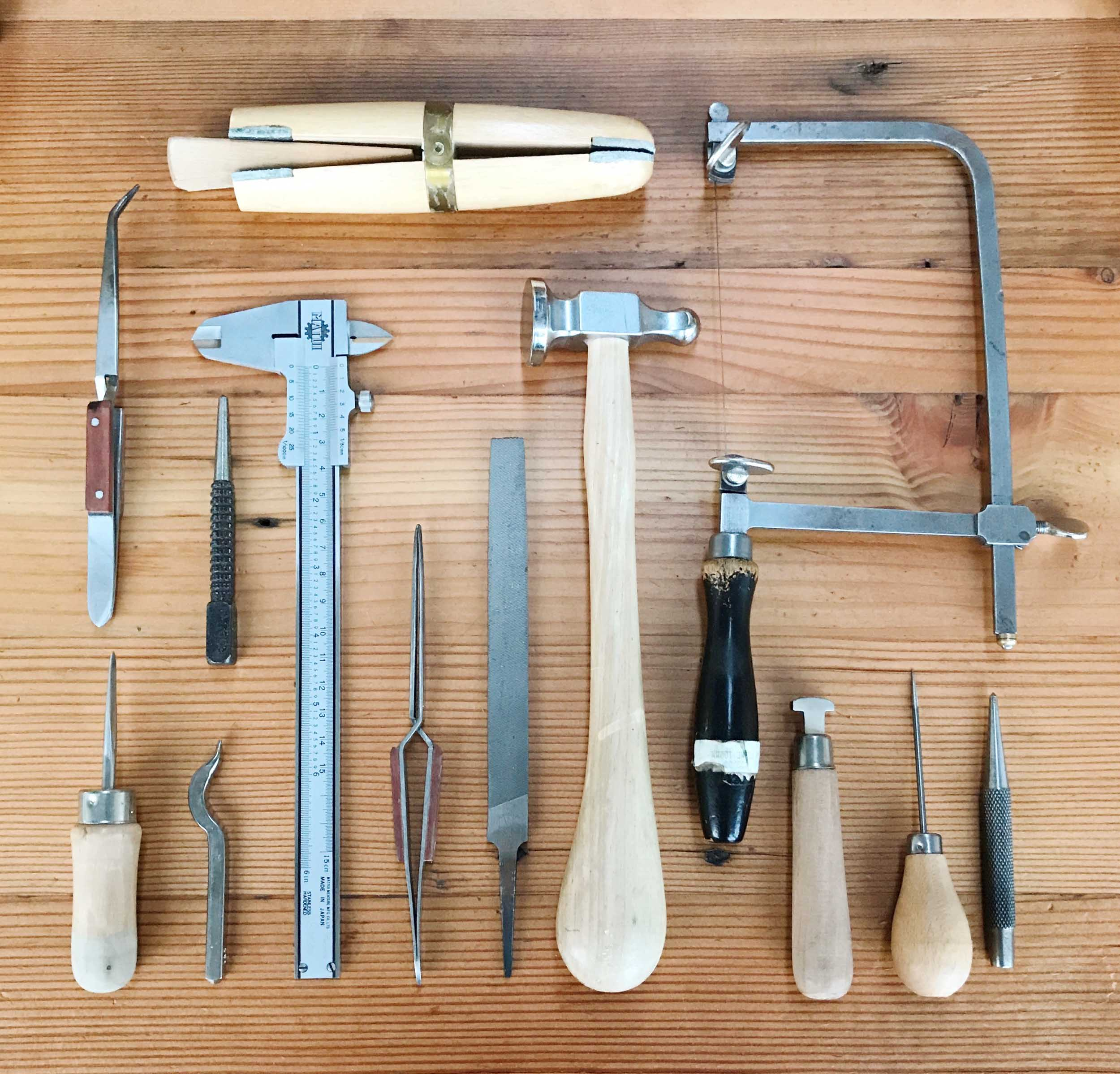 I can't wait to build on my growing collection of precision tools for my students to learn with. When making jewellery, good tools are absolutely crucial. Whoever said that a poor workman blames his (or her) tools obviously hasn't tried to mitre a perfect corner with a blunt file!