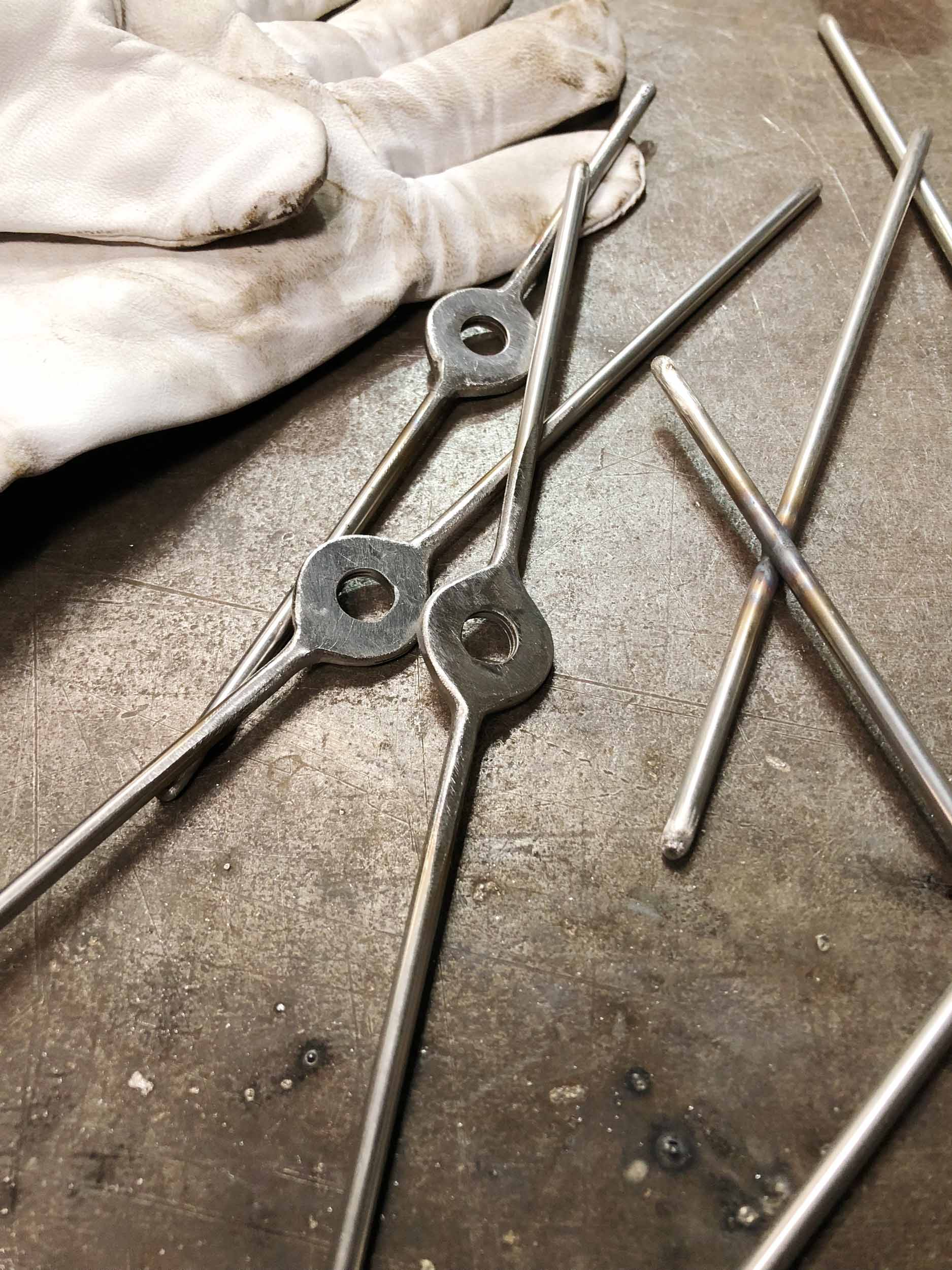 I've been welding up some new goodies for the gallery. Can you guess what these will be?