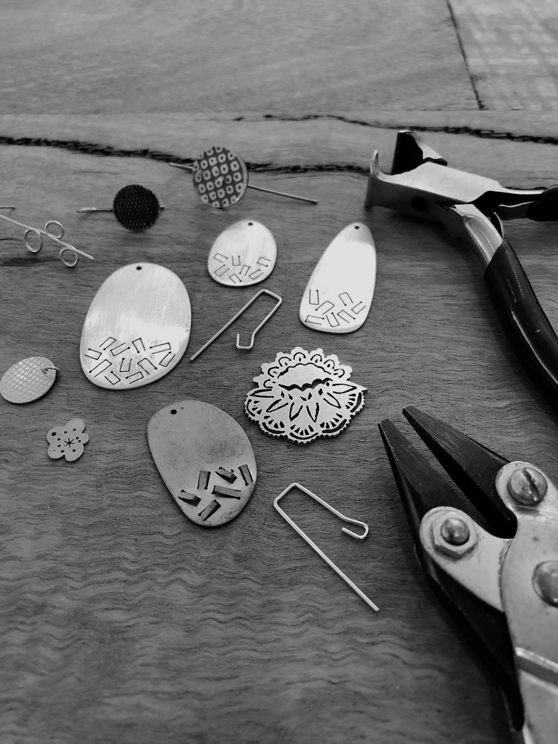 Make Your Own Earrings - Are you an earring lover who wants to take your collection to the next level? During this class you will work within the intimate, six person workshop space at my new Studio Gallery in Glenelg South, to design and make your own earrings. Each student should leave with at least one of earrings, learning some great skills.