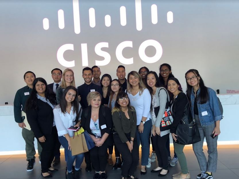 shrm@sjsu members visited cisco during fall 2018
