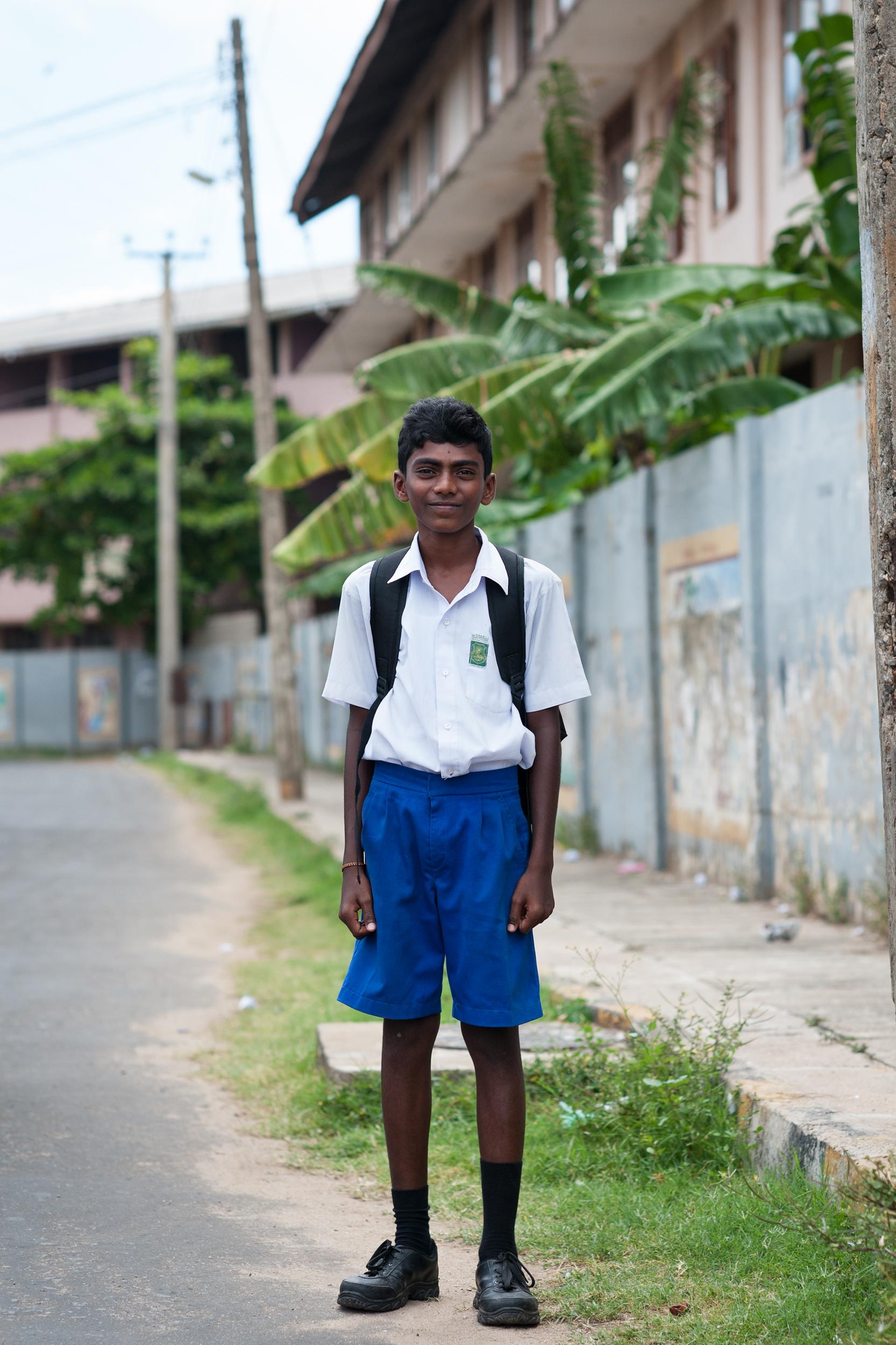 Schoolboy, Trincomalee