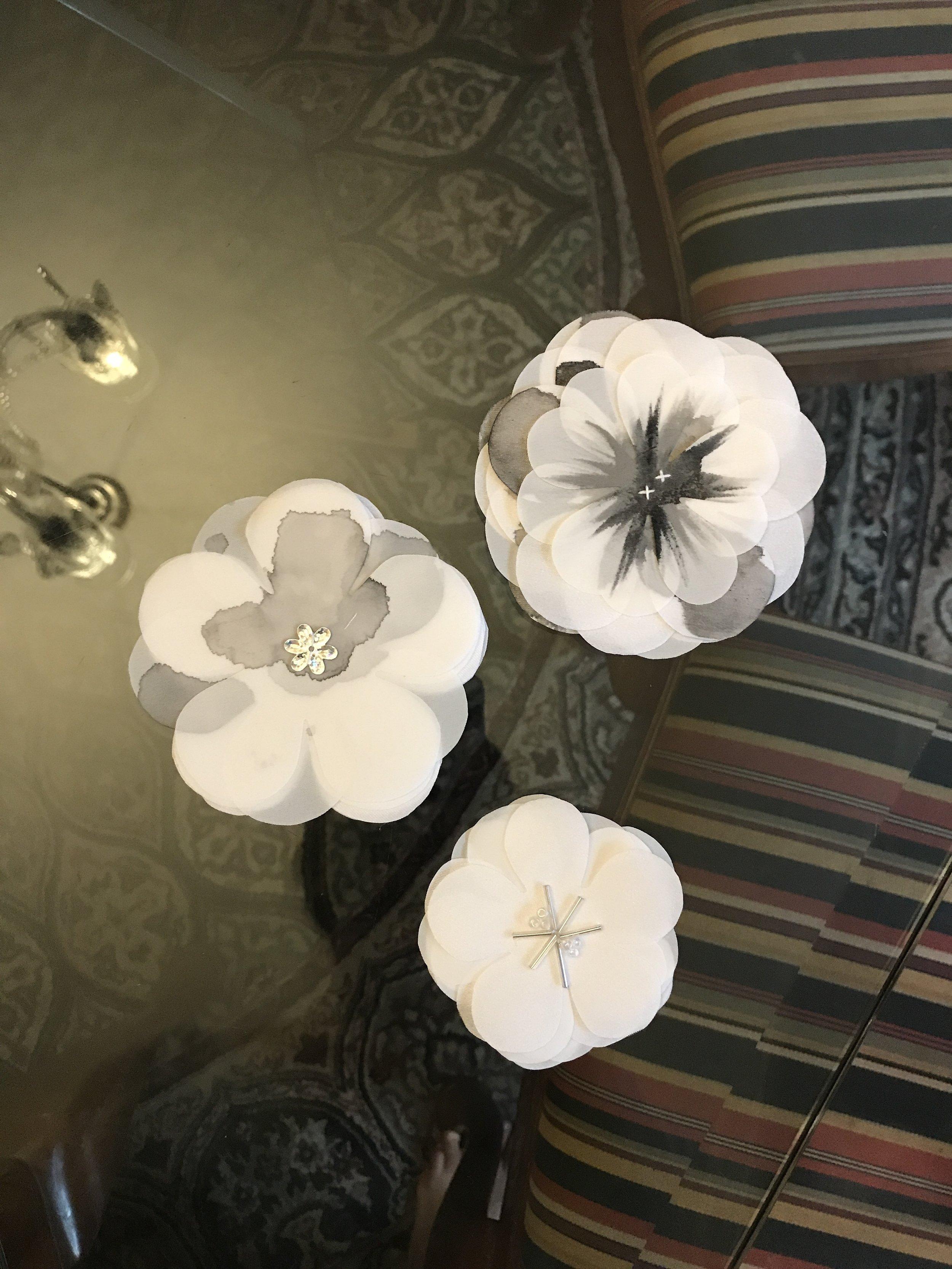 Fabric flowers :)