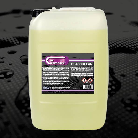 Glassclean 25L - NL Reinigt zonder strepen na te laten.FR Nettoie sans laisser de traces.EN Cleans without leaving streaks .1L/5L/25L/210L/1000L